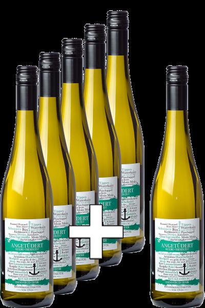 5+1 Paket: Angetüdert Riesling trocken 2019, Feuchtfröhlich Edition Weinmanufaktur von Oven