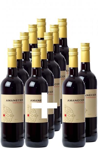 10+2-Paket: Amanecer Tempranillo 2017, Vino de la Tierra de Castilla