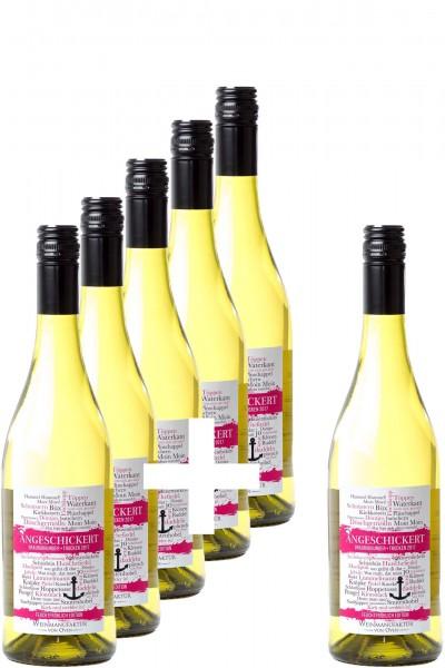 5+1-Paket: Angeschickert Grauburgunder 2019, Feuchtfröhlich Edition Weinmanufaktur von Oven