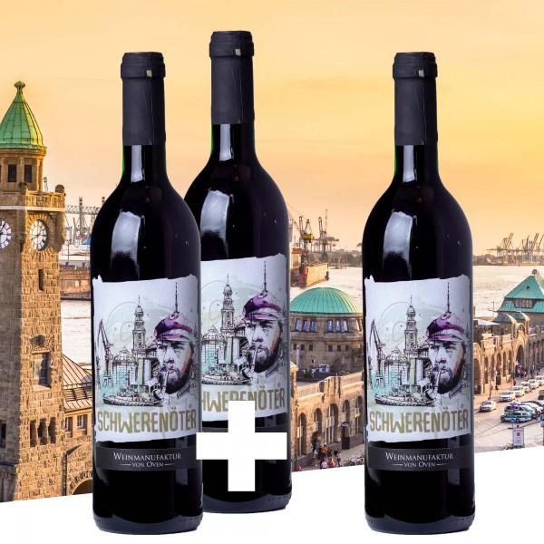 2+1 Paket: Schwerenöter 2017, Hanseatischer Rotspon, Weinmanufaktur von Oven