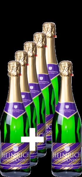 5+1-Paket: Heinrich von Oven Sekt trocken - Weinmanufaktur von Oven